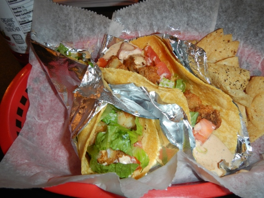 Fish Tacos from Dos Amigos