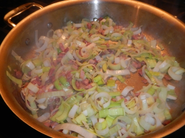 leeks and pancetta