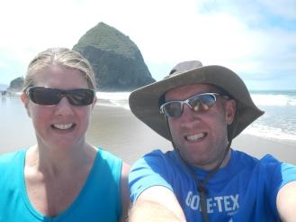 Pete & Mia and Haystack Rock