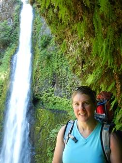 Mia at Tunnel Falls