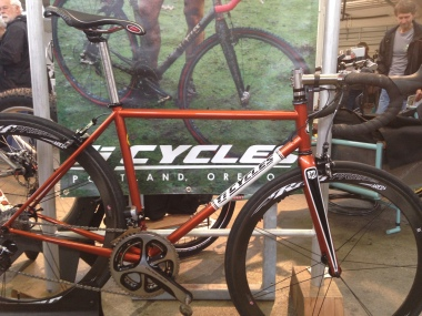 Nice copper colored bike by Ti Cycles